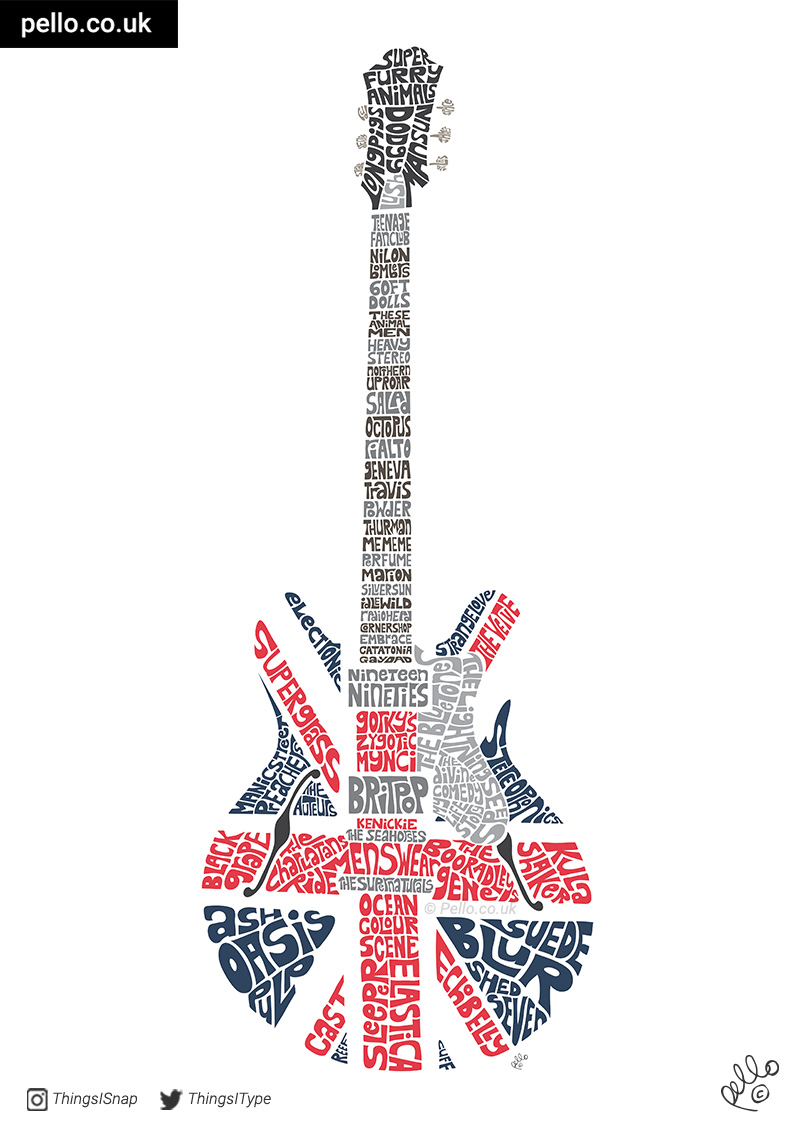 Celebrating 20 Years of Britpop - click to buy a print