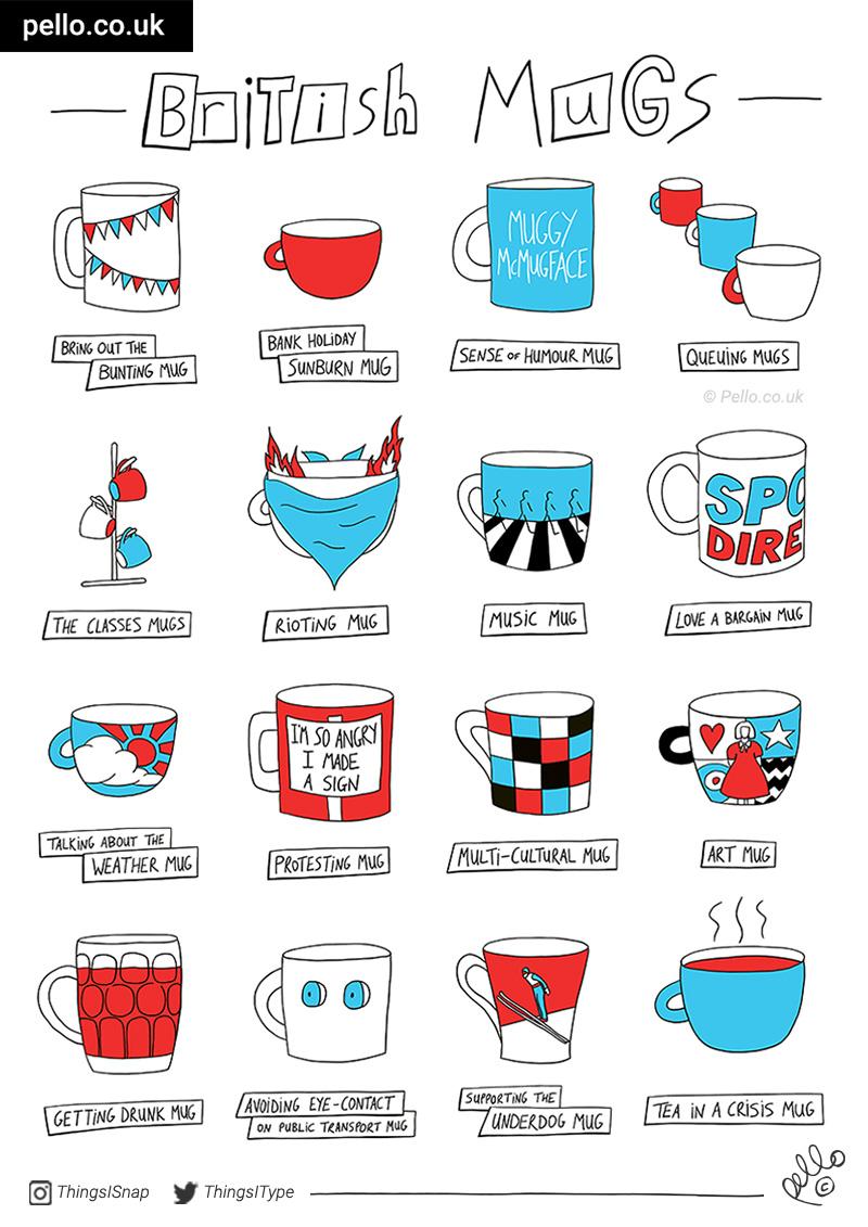 Reserve your British Mugs Tea Towel