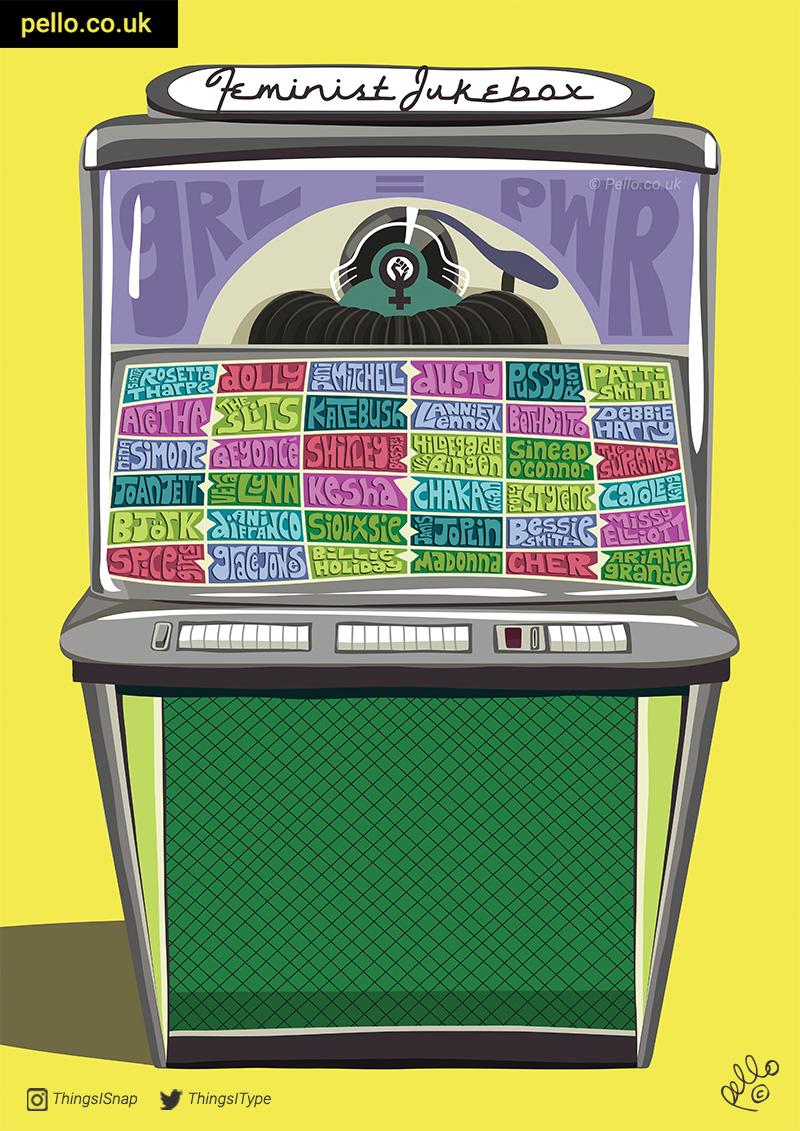 Feminist Jukebox II by Pello