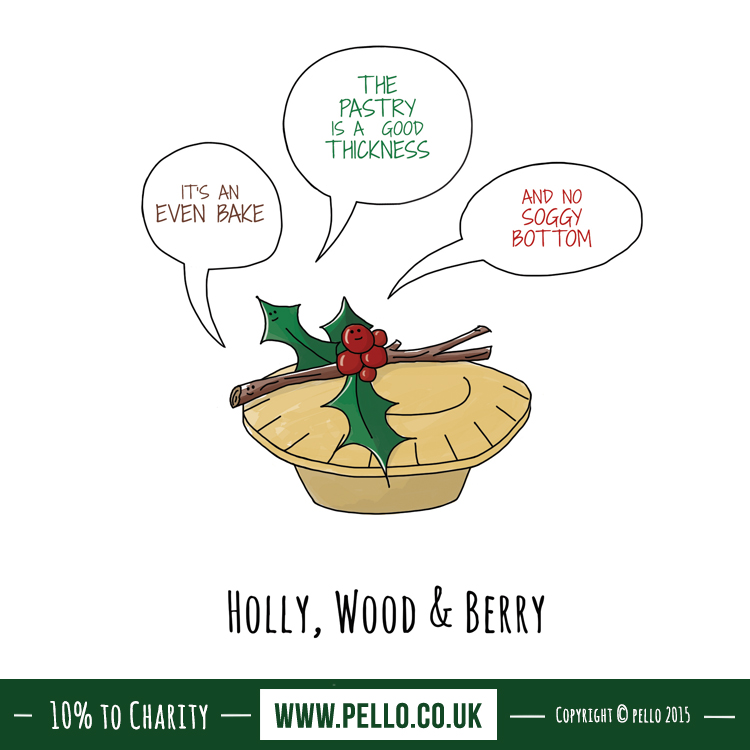 Hollywood and Berry Bake Off Christmas Card