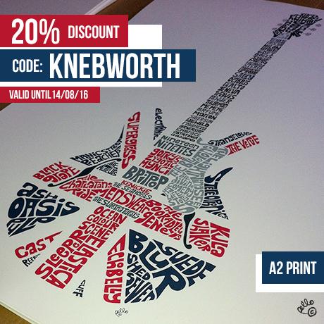 Get 20% off Britpop art
