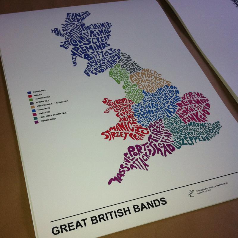 Britpop Guitar Print
