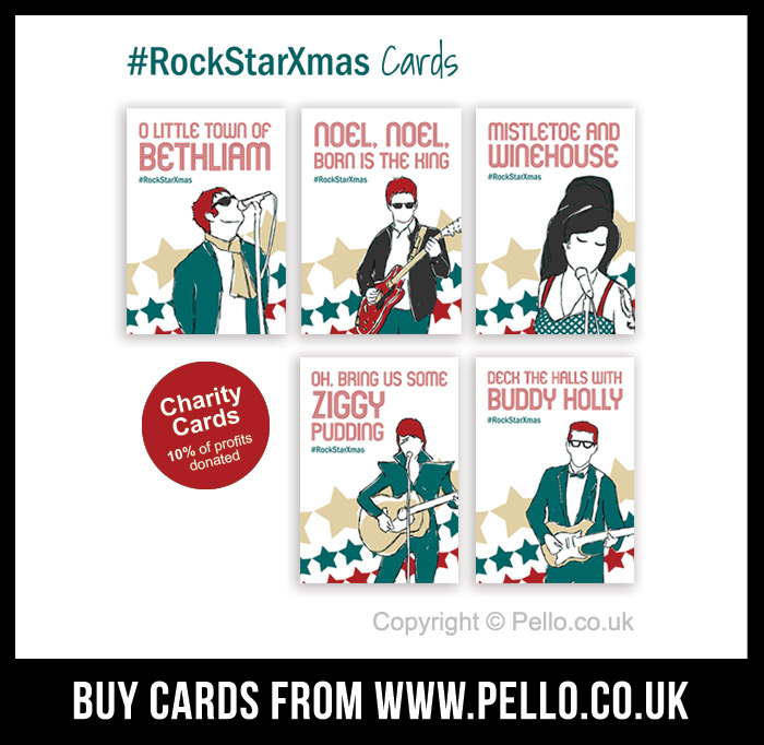 #RockStarXmas - click to buy cards