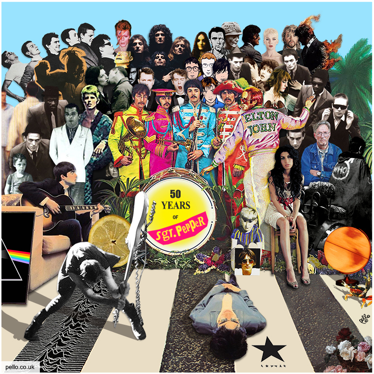 50 Years of Sg. Pepper - British Album Cover Mash Up