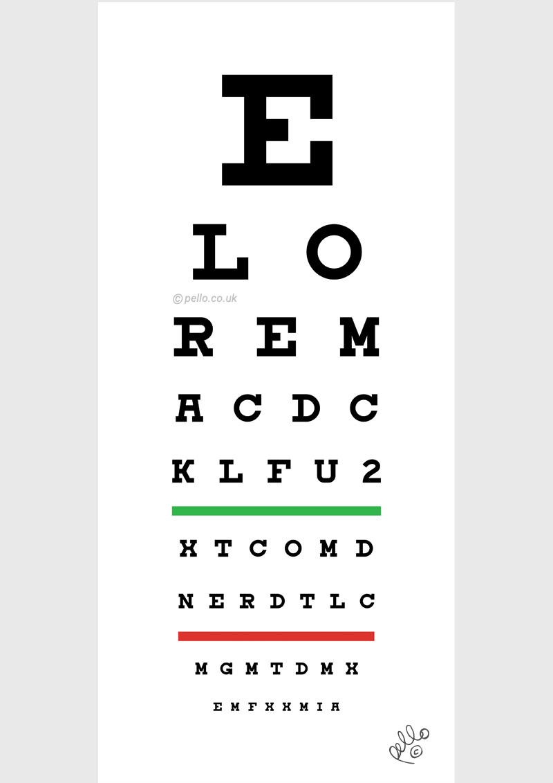 Muso's Eye Chart art by Pello