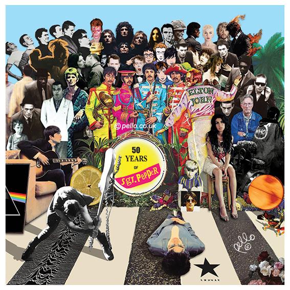 50 Years of Sg. Pepper - British Album Cover Mash Up