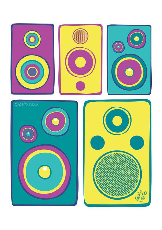 Speaker art by Pello