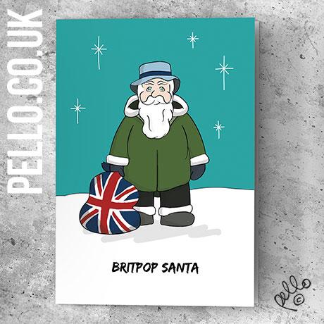 Britpop Christmas Cards