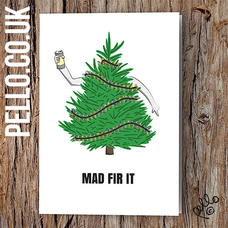 Mad Fir It Christmas Cards