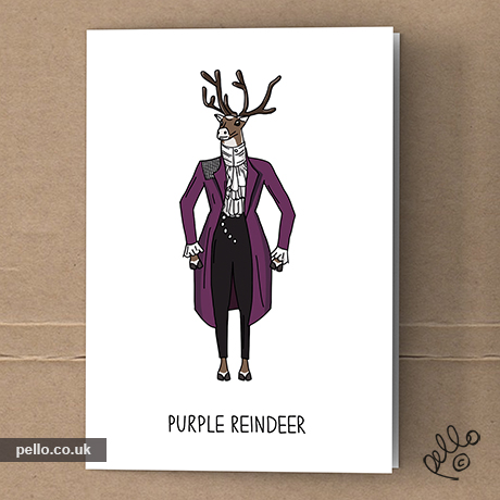 Cool christmas cards music art blog by east london artist prince christmas cards m4hsunfo