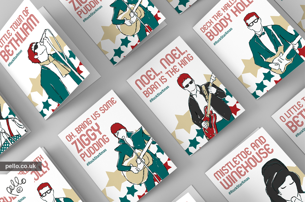 Rock Star Christmas Cards